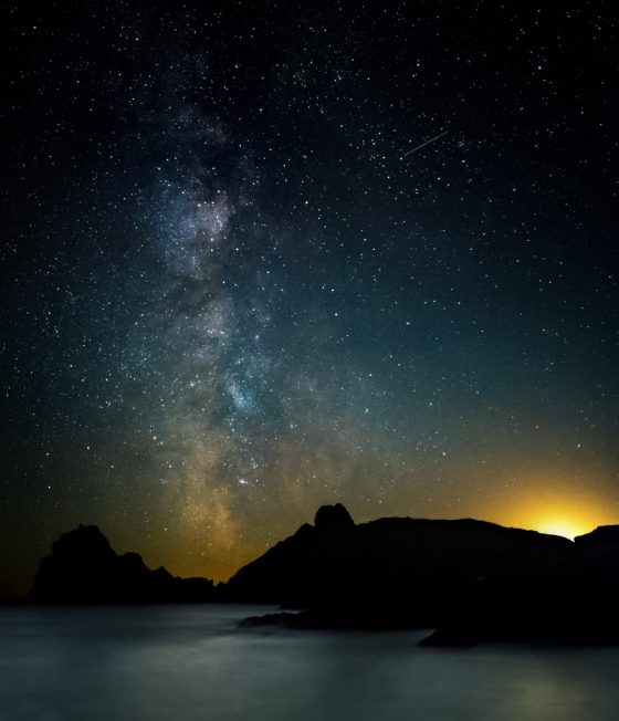 Kynance cove and Milky Way