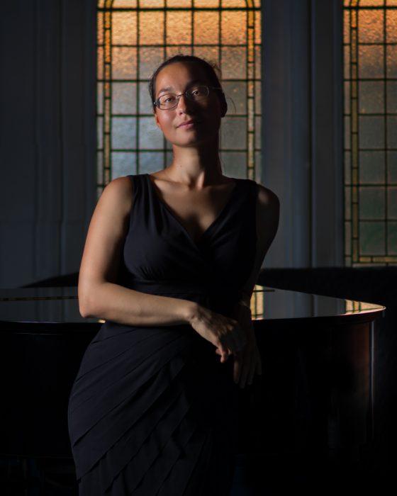Pianist environmental portrait.