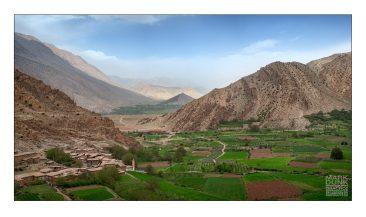 Happy Valley from Tifenfant Ridge Atlas mountains Morocco