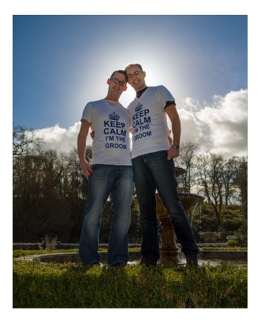 Gay wedding couple - groom and groom